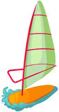 Windsurf. Illustration of isolated a colorful windsurf on white background Stock Photos