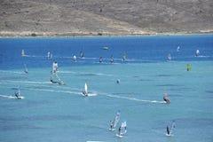 Windsurf Royalty-vrije Stock Afbeeldingen