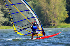Windsurf Photo libre de droits