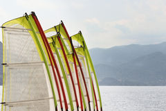 Windsurf. Ing sails ready for fun Royalty Free Stock Images