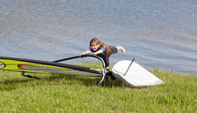 windsurf Fotografia Stock