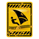 Windsurf area sign Stock Images