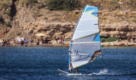 Windsurf in Blue Waters Royalty Free Stock Image
