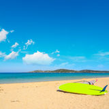 Windsurf board in Porto Pollo beach Stock Images