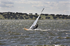 Windsurf in Campomaior Royalty Free Stock Photos