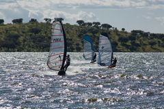 Windsurf in Campomaior Royalty Free Stock Images