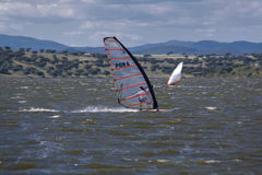 Windsurf in Campomaior Royalty Free Stock Image