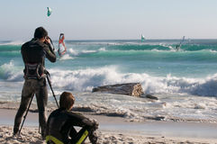 Windsurf Città del Capo Fotografia Stock