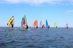 Windsurf, a classe do windsurfer fotos de stock