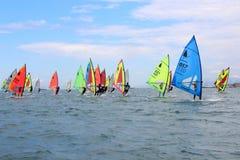 Windsurf, a classe do windsurfer fotografia de stock royalty free