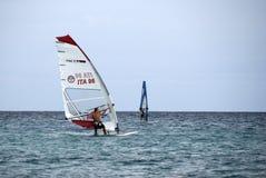 Windsurf - das Rennen Stockbild