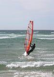 Windsurf el retrato fotografía de archivo