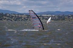 Windsurf en Campomaior Imagen de archivo libre de regalías
