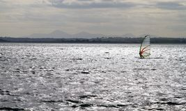Windsurf en el lago de Strangford 2 Fotografía de archivo