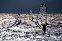 Windsurf in the evening Royalty Free Stock Images