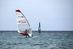 Windsurf - het ras Stock Afbeelding