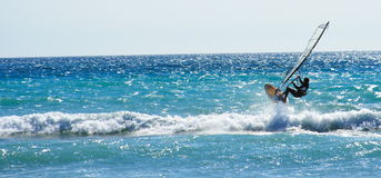 Windsurf il salto 2 Fotografie Stock Libere da Diritti