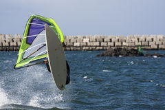 Windsurf jump Stock Image