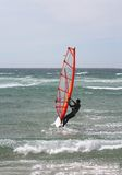 Windsurf la verticale photographie stock