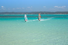 Windsurf in the lagoon Royalty Free Stock Photo