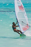 Windsurf in the lagoon Royalty Free Stock Photos