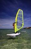 Windsurf las mujeres Fotos de archivo libres de regalías