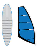 Windsurf sail and surfing board Royalty Free Stock Image
