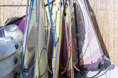 Windsurf sails background Royalty Free Stock Image