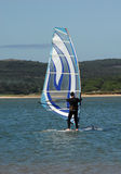 Windsurf school - learning lesson Royalty Free Stock Photo