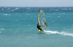 Windsurf Tarifa atlantic Royalty Free Stock Photos