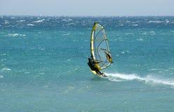 Windsurf Tarifa Atlantische Oceaan Royalty-vrije Stock Foto's