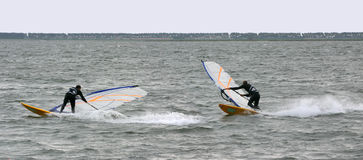 Windsurf Technique Stock Photo