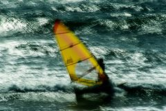 Windsurf vago Immagini Stock