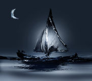 Windsurf a vela Fotografia de Stock Royalty Free