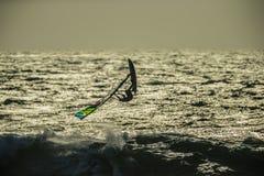 Windsurf Wave Jump Stock Photo