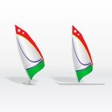 Windsurf on white background Stock Image