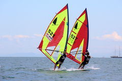 Windsurf, windsurfer κατηγορία Στοκ φωτογραφία με δικαίωμα ελεύθερης χρήσης