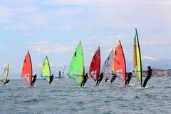 Windsurf, windsurfer κατηγορία Στοκ Φωτογραφία