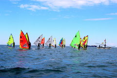 Windsurf, windsurfer class Royalty Free Stock Photos