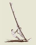 Windsurfenskizze Lizenzfreie Stockfotografie