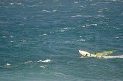 Windsurfer περιερχόμενος στο νερό Στοκ εικόνες με δικαίωμα ελεύθερης χρήσης