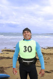 Windsurfer получая костюм готовый Стоковые Фотографии RF