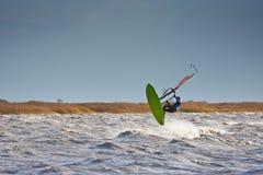 Windsurfer принимая  Стоковое Изображение