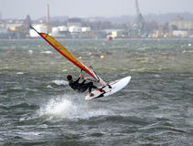 Windsurfer 2. Windsurfer, Poole Harbour royalty free stock images