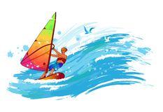Windsurfer Fotos de Stock Royalty Free