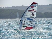 Windsurfer. International windsurf competition 19. April 2008 in Jadrija Sibenik Croatia Stock Photo