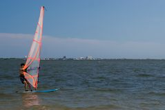 Windsurfer royalty free stock photos