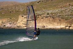 Windsurfer in actie. Stock Afbeelding