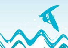 Windsurfer in action stock illustration