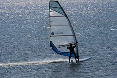 WINDSURFER-aegean ocean Stock Photography